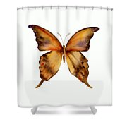 7 Yellow Gorgon Butterfly Shower Curtain