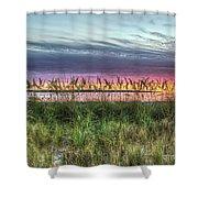 Yorktown Beach At Sunrise Shower Curtain