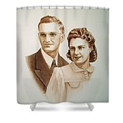 70 Years Together Shower Curtain