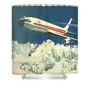 707 In The Air Shower Curtain
