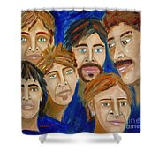70s Band Reunion Shower Curtain