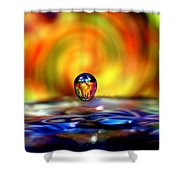 70's Water Drop Shower Curtain