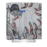 Kintu And Nambi  Folktale Shower Curtain
