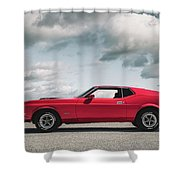 72 Mustang Shower Curtain