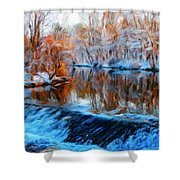 Landscape Drawing Nature Shower Curtain