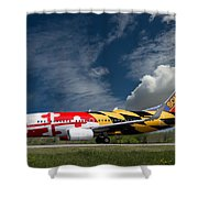 737 Maryland On Take-off Roll Shower Curtain