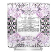 Interfaith Or Reformed Ketubah To Fill Shower Curtain