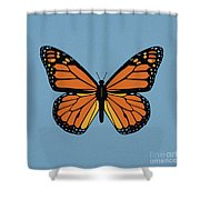 74- Monarch Butterfly Shower Curtain