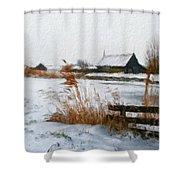 Nature Landscape Paintings Shower Curtain