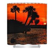75 Island Sunset Shower Curtain