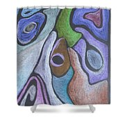 #758 Abstract Drawing Shower Curtain