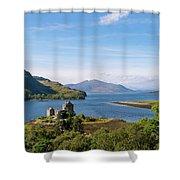 76. Eilean Donan Castle, Scotland Shower Curtain