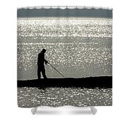 78. One Man And His Rod Shower Curtain