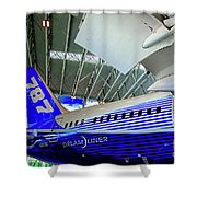 787 Tail Section Shower Curtain