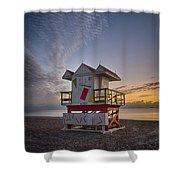 7898- Miami Beach Sunrise Shower Curtain