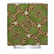 Fractal Floral Pattern Shower Curtain