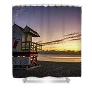 7901- Miami Beach Sunrise Shower Curtain