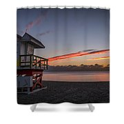 7935- Miami Beach Sunrise 14x25 Shower Curtain