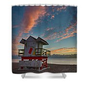 7944- Miami Beach Sunrise Shower Curtain