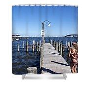 Indian River Lagoon At Eau Gallie In Florida Usa Shower Curtain
