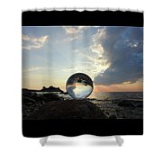 8-26-16--5878 Don't Drop The Crystal Ball, Crystal Ball Photography Shower Curtain