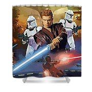 A Star Wars Poster Shower Curtain