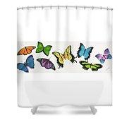 8 Butterflies Shower Curtain