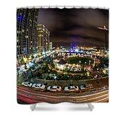 Charlotte City Skyline At Night  Shower Curtain