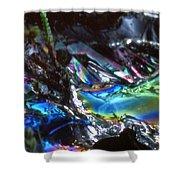8. Close-up Ice Prismatics, Slaley Sand Quarry Shower Curtain