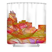 Durham North Carolina Skyline Shower Curtain