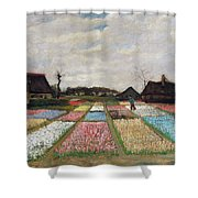 Flower Beds In Holland Shower Curtain