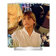 Galaxies Star Wars Poster Shower Curtain