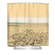 Gordon Beach, Tel Aviv, Israel Shower Curtain
