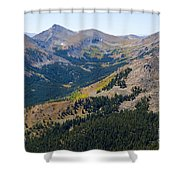 Autumn Tundra Turning To Gold  On Mount Yale Colorado Shower Curtain