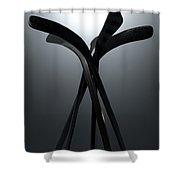 Ice Hockey Stick Array Shower Curtain