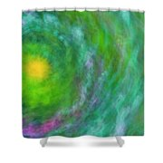 Impression Series - Floral Galaxies Shower Curtain by Ranjay Mitra
