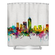 Indianapolis Indiana Skyline Shower Curtain