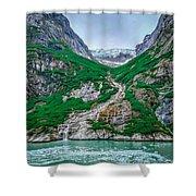 Inside Passage Mountain Views Around Ketchikan Alaska Shower Curtain