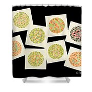 Ishihara Color Blindness Test Shower Curtain