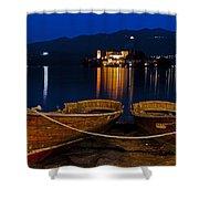 Island Of San Giulio Shower Curtain