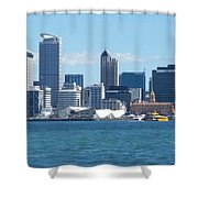 New Zealand - The Sea Heart Of Auckland Shower Curtain