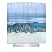 North Carolina Sugar Mountain Skiing Resort Destination Shower Curtain