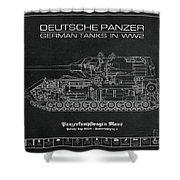 Panzerkampfwagen Maus Shower Curtain