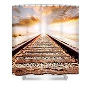 Railway Tracks  Shower Curtain