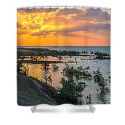 Red Sea Sunset Shower Curtain