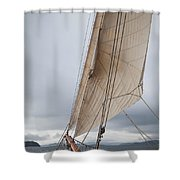 Rigg Of A Tall Ship Shower Curtain
