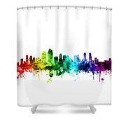 San Diego California Skyline Shower Curtain