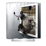 8 Seconds Shower Curtain