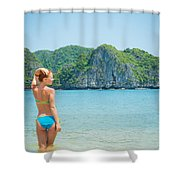 Sexy Woman Relax Shower Curtain