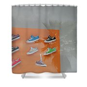 8 Sneakers Shower Curtain